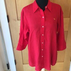 Ralph Lauren Red Linen Tunic